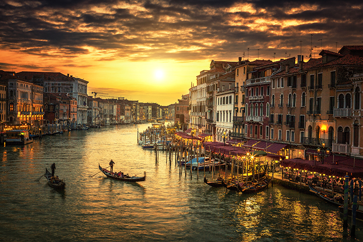 Grand Canal at sunset, Venice